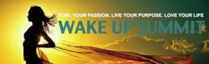 banner for wake up online summit