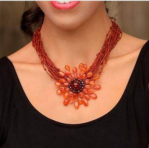 Starburst fair trade necklace for soloprenuer